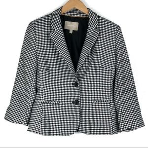 BANANA REPUBLIC Blazer 6 Black White Houndstooth
